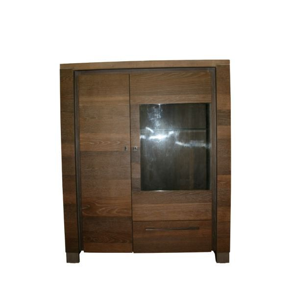 vitrine en ch ne achat vente vitrine argentier. Black Bedroom Furniture Sets. Home Design Ideas