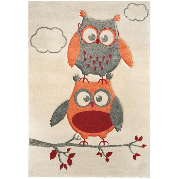 tapis enfants hibou achat vente tapis enfants hibou pas cher cdiscount. Black Bedroom Furniture Sets. Home Design Ideas