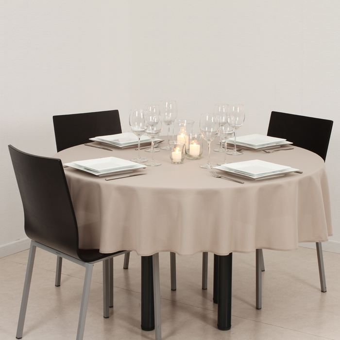 nappe ronde anti taches lin achat vente nappe de table cdiscount. Black Bedroom Furniture Sets. Home Design Ideas