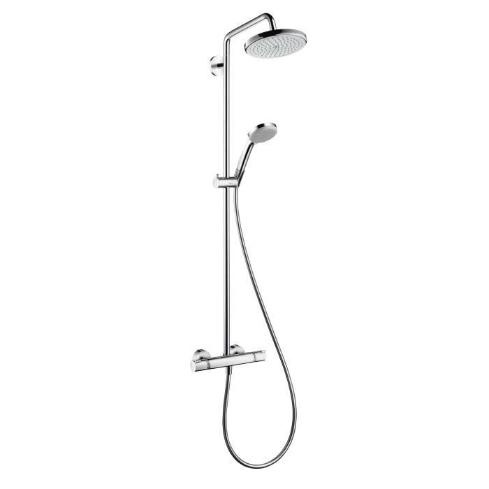 hansgrohe showerpipe croma 220 bras de douche 4 achat. Black Bedroom Furniture Sets. Home Design Ideas