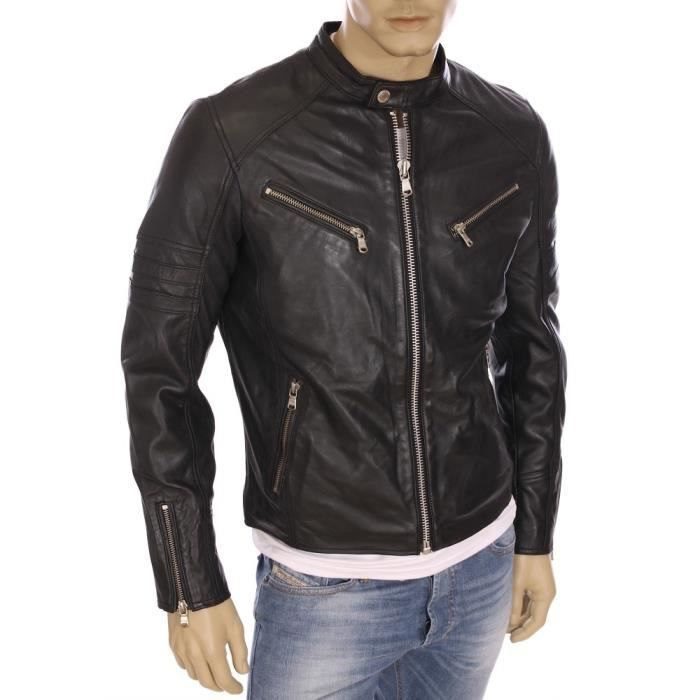 Veste en cuir redskins slim fit