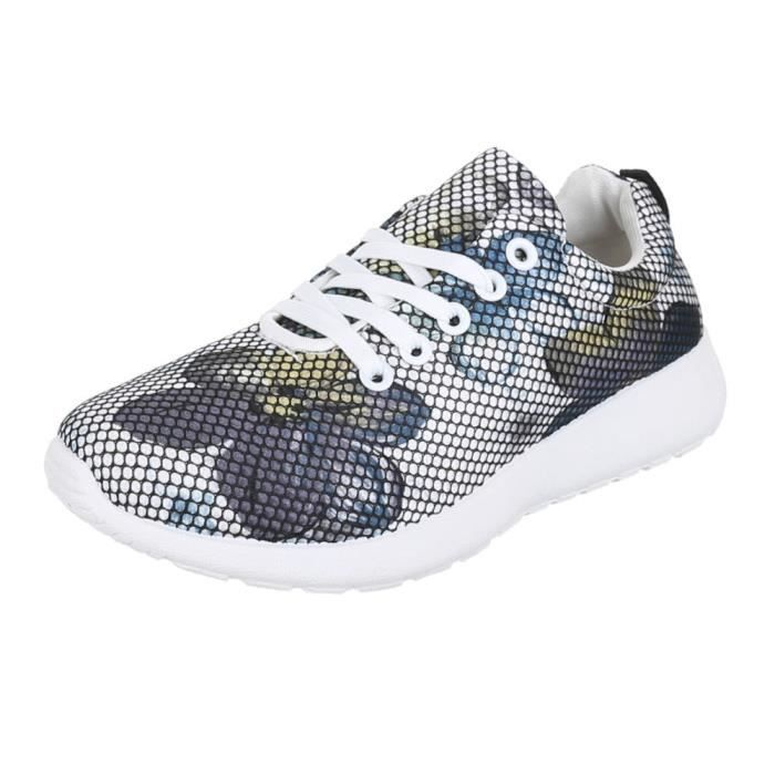 Chaussures femmes sneakers COLOURED Plateau Basket bleu Multi yDU5NZ4P