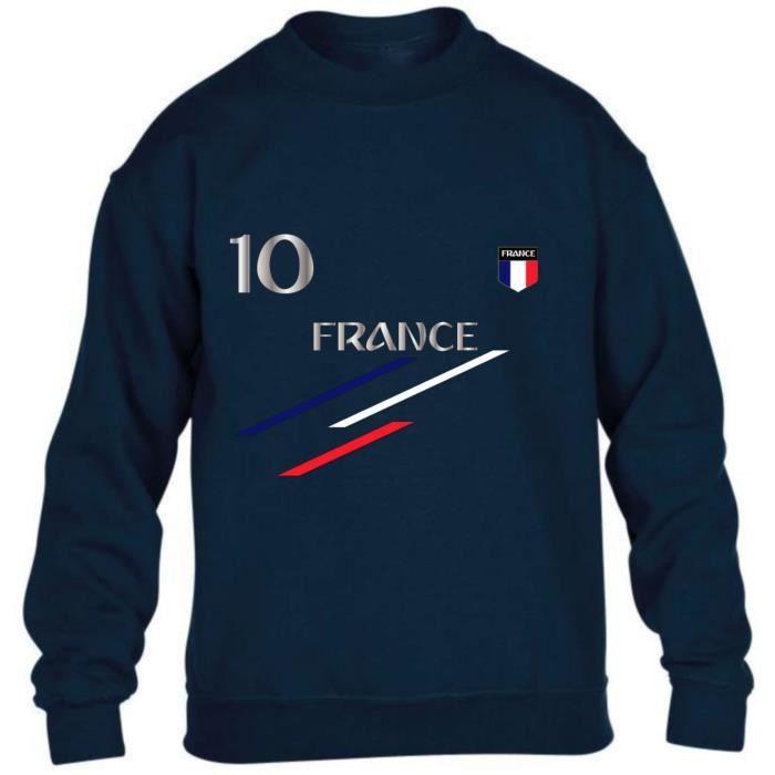Sweat France 2 étoiles homme bleu marine Taille de XS au 4XL