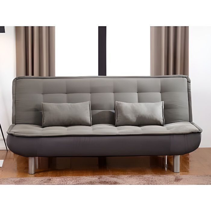 canap clic clac mishan en tissu gris achat vente clic clac cdiscount. Black Bedroom Furniture Sets. Home Design Ideas