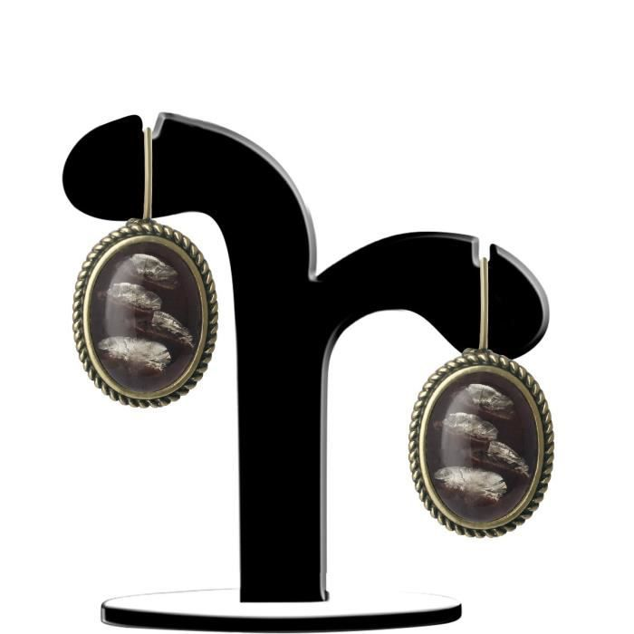 Womens Oxidized Plated Casual Wear Brown Labradorite Fashion Lever Back Earrings For & Aier 1140 CU2PG