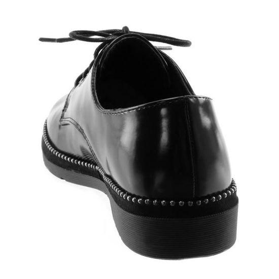 4 Womans en daim noir finition Plat Chaussures par Casandra taille 3