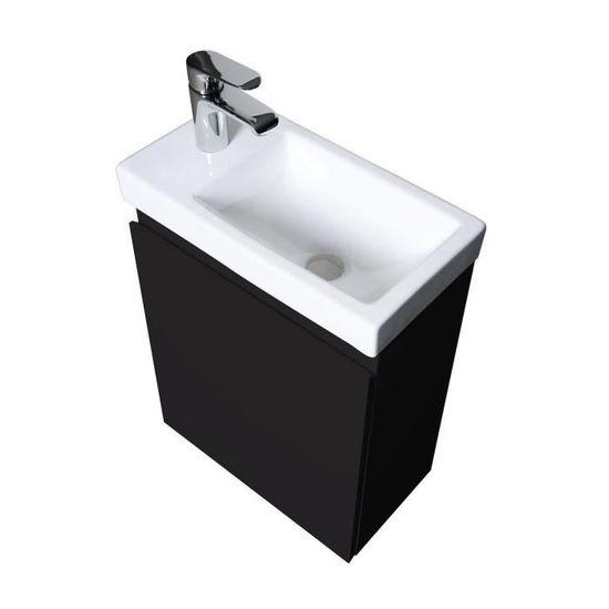 Meuble Lave-Mains Noir Carbone L41 x H53 Lisa
