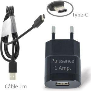 CHARGEUR TÉLÉPHONE Chargeur Secteur USB 1A + Câble Type-C Pour NOKIA