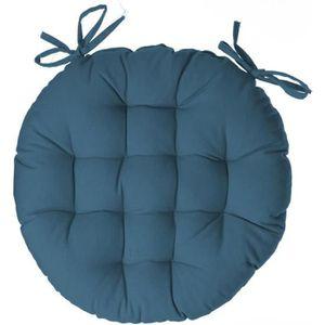 COUSSIN DE CHAISE  Atmosphera - Galette de chaise ronde bleu canard d