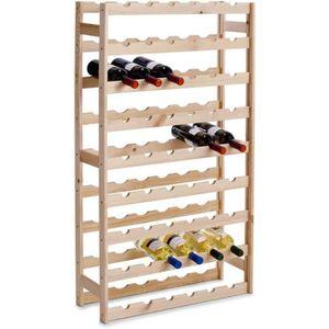 MEUBLE RANGE BOUTEILLE NetBoat Étagère à vin en Bois, Non traité, Bois, u