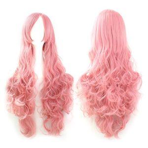 Perruque Femme,Deesos Cosplay Perruques Anime Perruque Fantaisie Robe Perruques Cosplay Costume Dames Longue Perruque Fris/ée Rouge