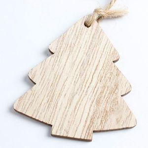 SAPIN - ARBRE DE NOËL 1pc Noël bois Chip arbre ornements Noël suspendu c