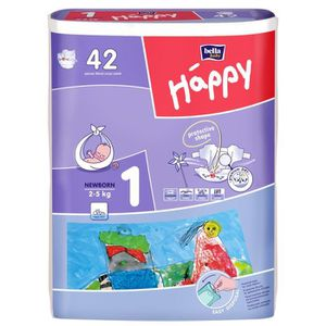 COUCHE HAPPY Couches Taille 1 - De 2 à 5 kg - 42 couches