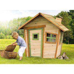 MAISONNETTE EXTÉRIEURE AXI Maison Enfant ALICE - Cabane en bois de cèdre