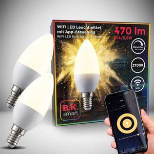 AMPOULE - LED Lot de 2 ampoules connectées LED dimmables command