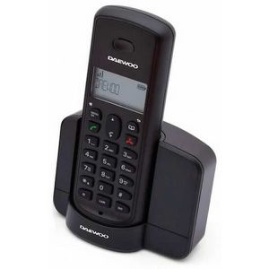 Téléphone fixe Téléphone Sans Fil Daewoo DTD-1350 DECT DUO Noir