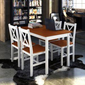 TABLE À MANGER COMPLÈTE Fesjoy Ensemble de salle à manger 5 pièces Ensembl