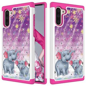 COQUE - BUMPER Coque Samsung Galaxy Note 10,Deux Elephants Diaman