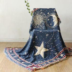COUVERTURE - PLAID Plaid la ciel d'étoiles Couverture coton Canapé co