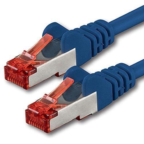 20m Bleu 1 pièce CAT6 Câble Ethernet Câble Réseau RJ45 10-100 - 1000 Mo-s câble de Patch LAN Câble -Cat 6 S-FTP PIMF 250 MHz