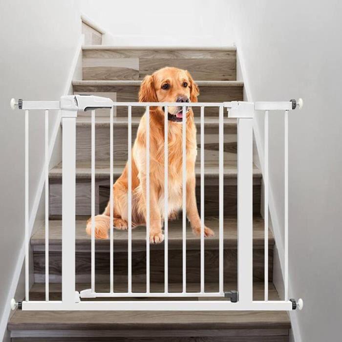 BAICHUN Barrire Ajustable pour Porte Barrire Pression pour Escaliers Et PorteCouloirs Barrire De PorteEscaliers Mtal Barrier[2977]