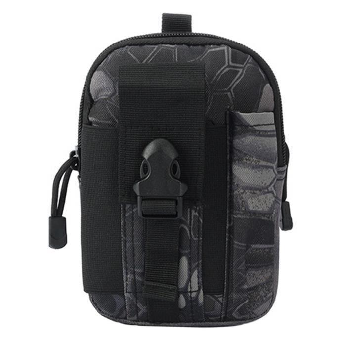 Sac De Taille Tactique étanche Pack De Ceinture Pochette Molle Python Noir