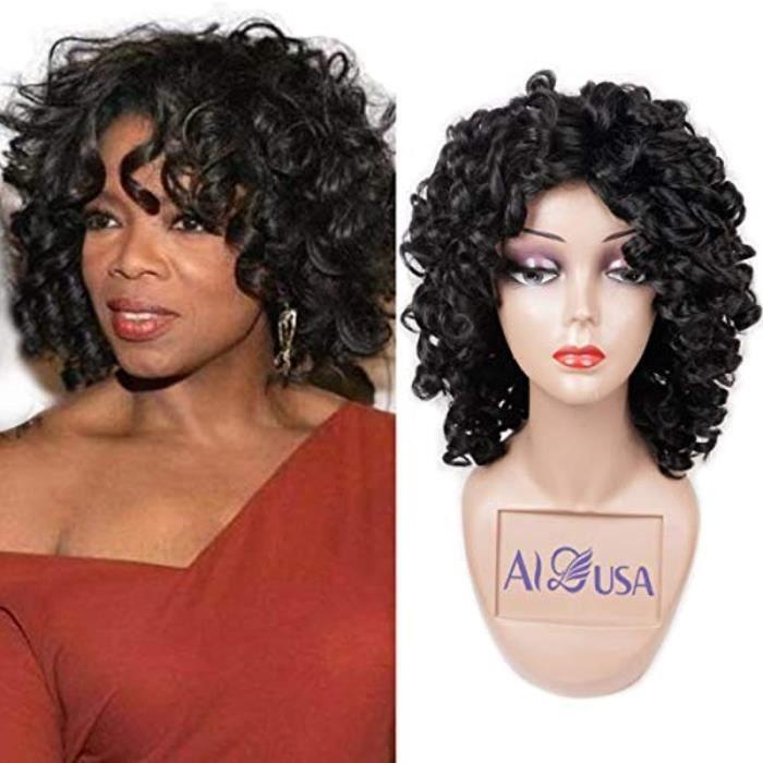 Shampoing - Shampoing Sec IPHA8 perruques bouclées courtes armure perruque de cheveux lâche moelleux ondulé big curl afro perruque d