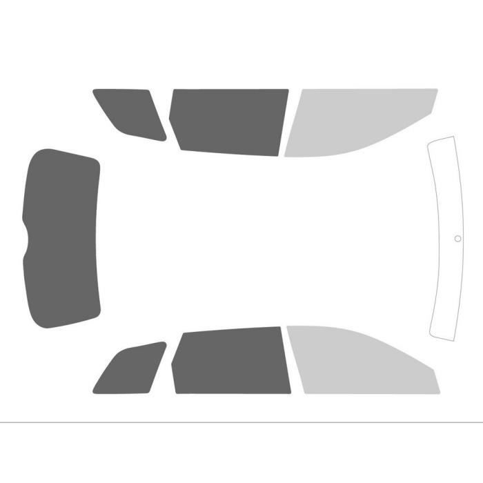 Variance Auto va_k-3-69-1009-3020-1-45 Film Teinté pour Auto Kit Complet, Noir 70-20