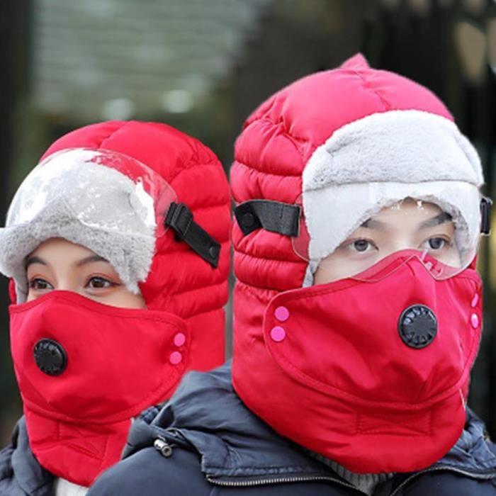 Protection sportive Hommes et femmes Ski Plus Velvet Mask Hiver Work Hunting Work Riding Work Warm Cap ZXT91113037RD_cbas