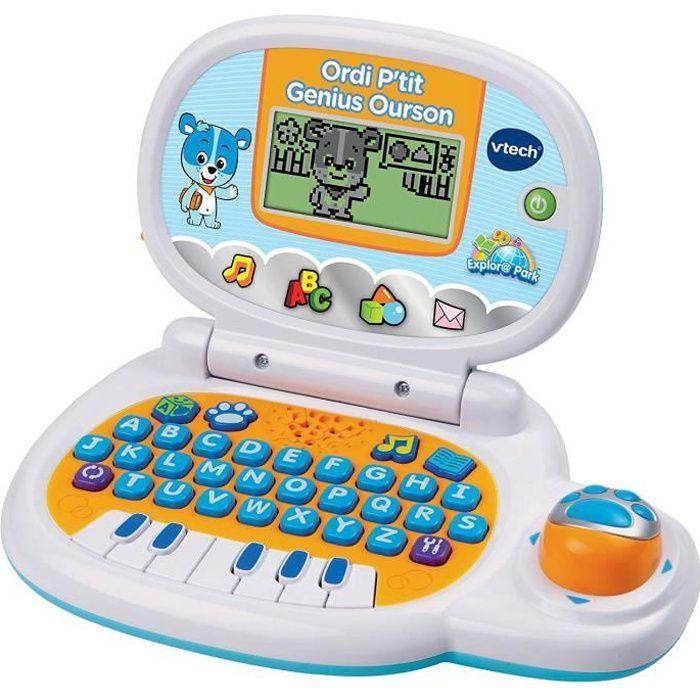 Premier Ordinateur enfant d'apprentissage VTech educatif : musiques,histoires,chansons,chiffres,couleurs, alphabet jouet jeu bébé