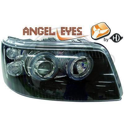 2272680 , Paire de Feux Phares Angel eyes noir pour VW T5 Caravelle , Multivan de 2003 a 2010