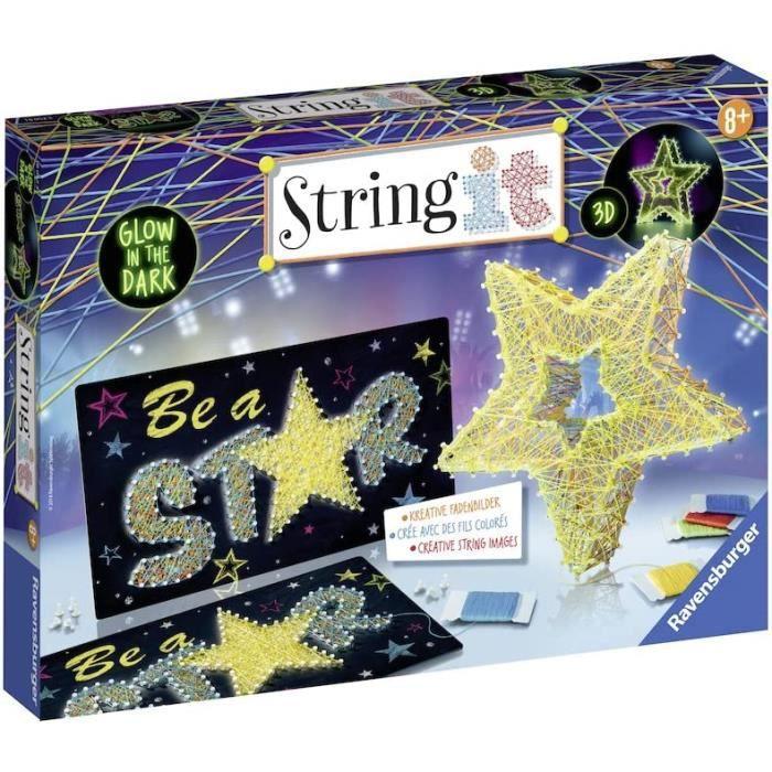Kits de loisirs créatifs Ravensburger - String It Etoile - string'art - création - Jeu créatif - enfants dès 8 ans - 180 53726