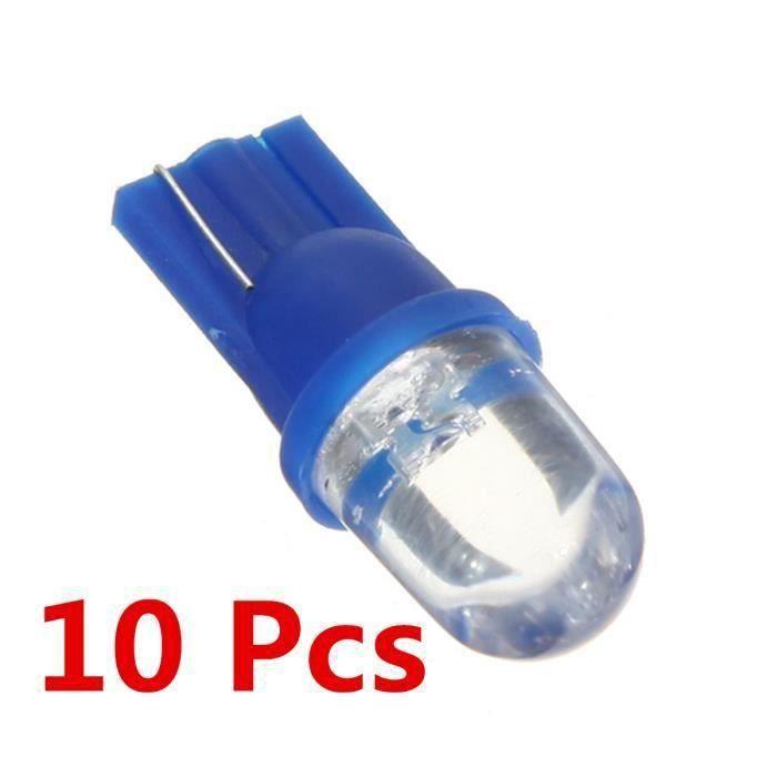 HT NEUFU 10x W5W Ampoule Veilleuse LED Voiture Lampe SMD 194 168 501 T10 Bleu XENON Plafonnier Effet - HTAVC824AA3850