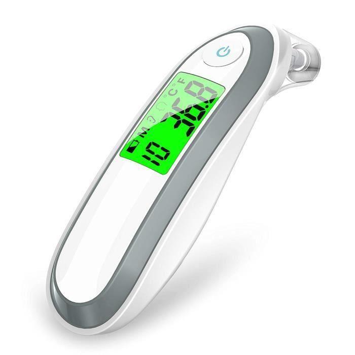 Thermomètre auriculaire et frontal, thermomètre médical médical à infrarouge X2