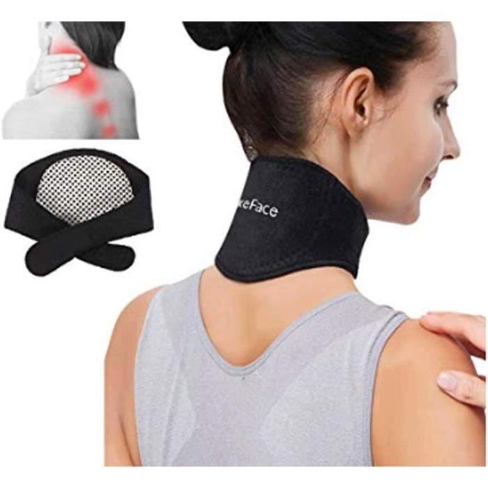 Sangle du Cou Minerve Cervicale Chauffante Ceinture médical Bande de tour cou Magnétique pour aider soigner mal au cou