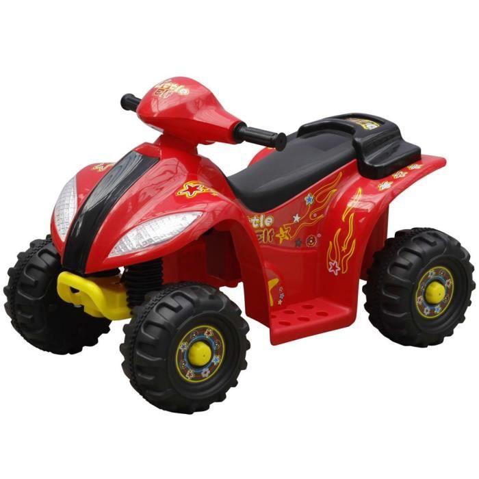 CHEZZOE Quad électrique - Kart Buggy électrique pour enfants Design Moderne - Rouge et Noir ☺43171
