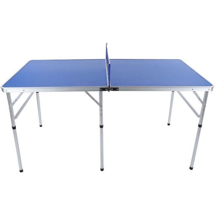 Table Table de ping-pong, table pliante pour intérieur et extérieur, ensemble de tennis avec table de ping-pong et raquettes 152 x