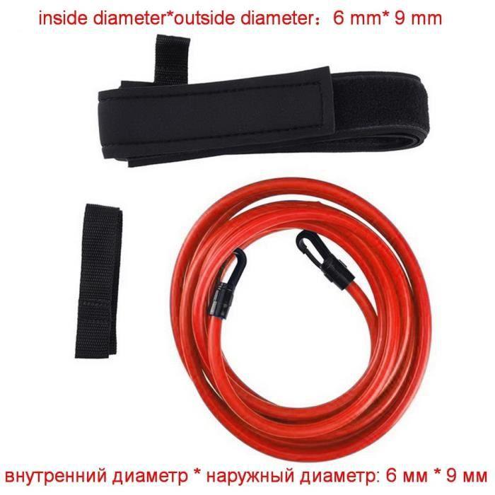 COULEUR 1 jeu rouge Taille Longueur 2 m 1 ensemble ceinture de nage elastique caoutchouc traction force Tube
