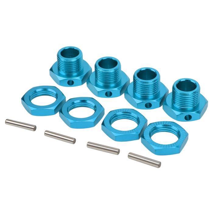 EBTOOLS Pilote hexagonal de roue RC Kit de coupleur hexagonal de roue en alliage d'aluminium 4 pièces RC pour voiture HSP 1/8 RC