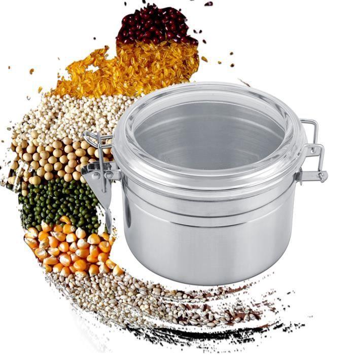 Pot de stockage scellé sous vide de récipient de café en acier inoxydable pour le grain de thé de sucre (800 ml)-YUN