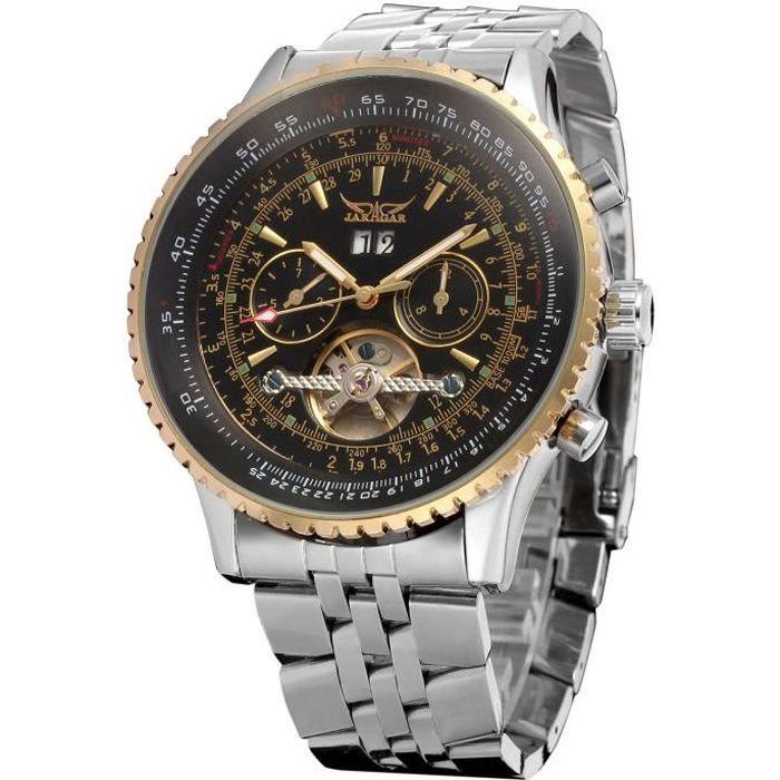 hommes de marque regardent Date de Tourbillon Vintage montre mécanique JARAGAR