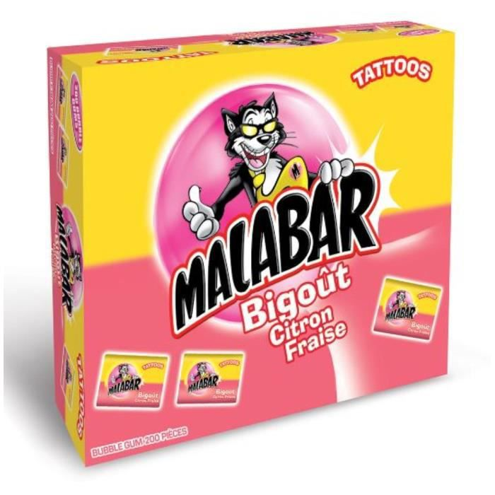 MALABAR Boîte de Chewing-gum Bigoût - 200 pièces
