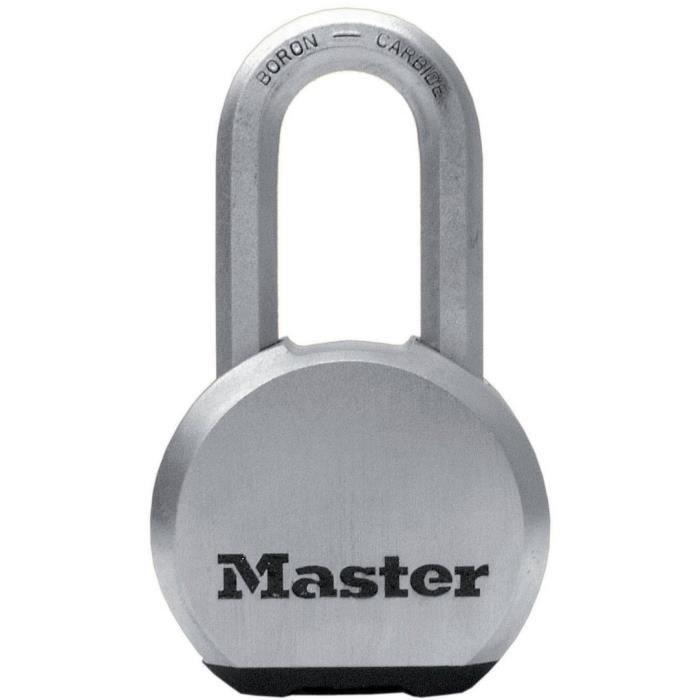 MASTER LOCK Cadenas Haute Sécurité [A Clé] [Acier Inoxydable] [Anse Longue] [Extérieur] M830EURDLH