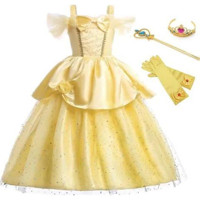 Robe de princesse La Belle et La Bête sans manches vêtement cosplay printemps Animation Tenue magnifique