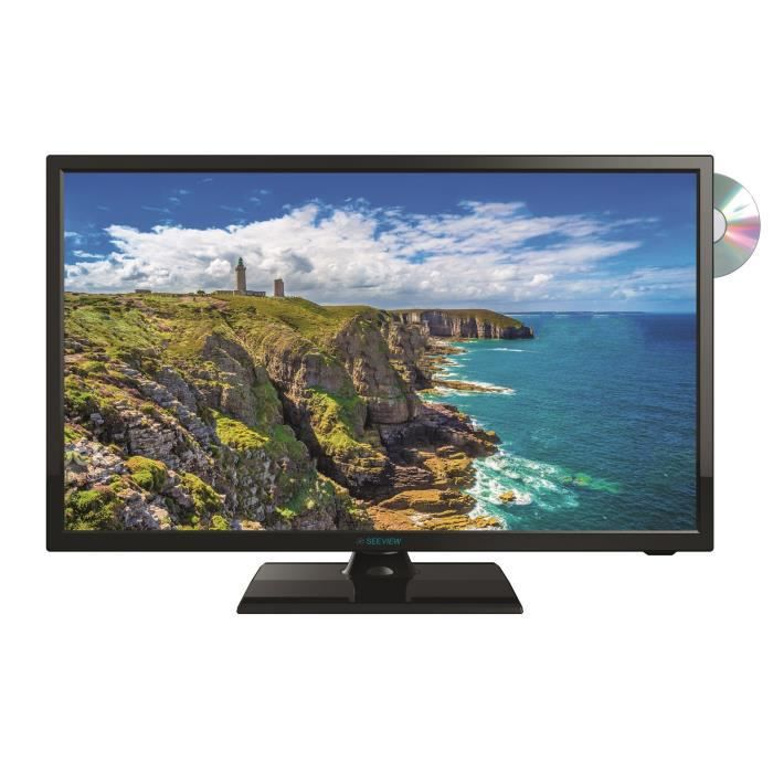 SEEVIEW Télévision LED HD + DVD DVB-T2 S2 - 18.5-