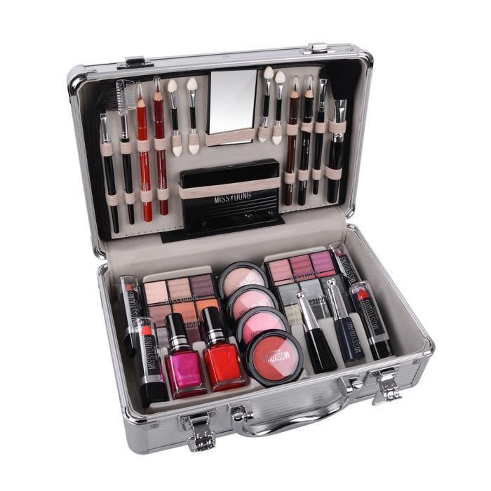 NetBoat Cosmetics - Coffret maquillage mallette en aluminium 52 pièces - Diva(Livraison sous 4-7 jours)