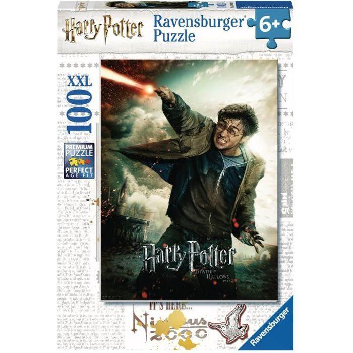 HARRY POTTER Puzzle 100 pièces XXL - Le monde fantastique d'Harry Potter - Ravensburger - Puzzle Enfant - Dès 6 ans