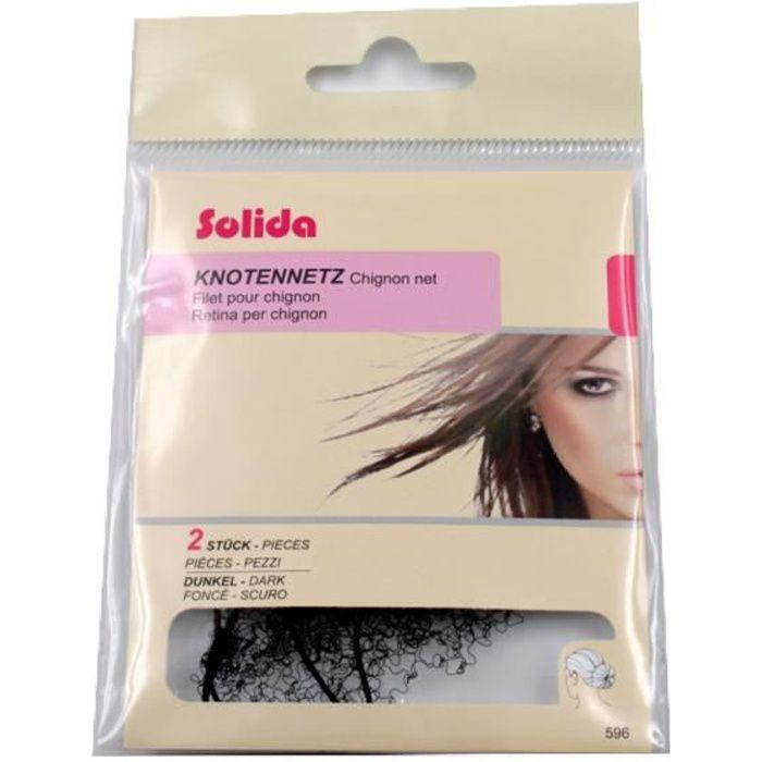 Filet pour chignon -Solida- ultra stretch pack de 2pcs pour cheveux foncé - RC006206