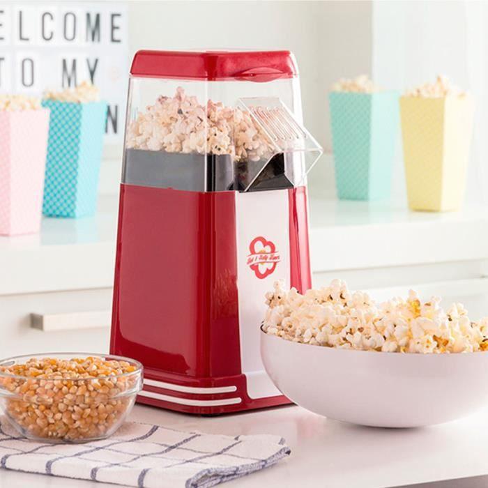 SHOP-STORY - Machine à Popcorn Retro Appareil Spécial Pop-Corn 1200W Rouge