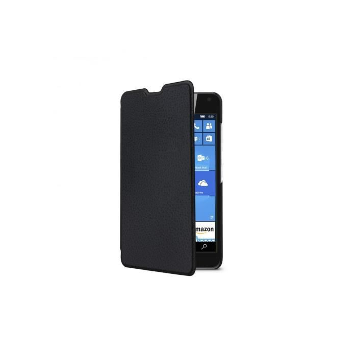 SWISS CHARGER Etui folio crystal case black pour Lumia 650/650ds